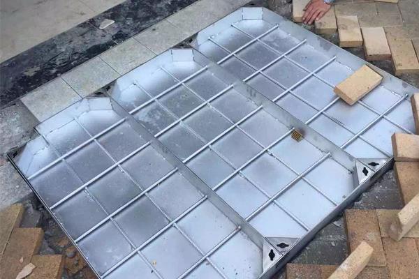 不锈钢双框隐形井盖