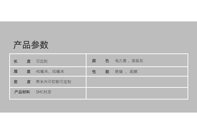 湖南安嘉承重SMC电力盖板7